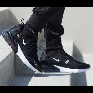 Nike Air Max 270 Running Shoes Black/White 11